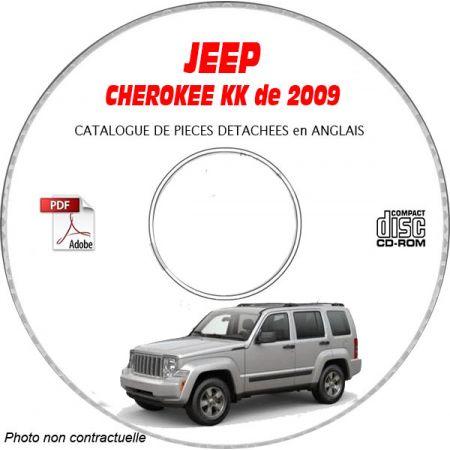 JEEP CHEROKEE - LIBERTY KK de 2009 Type : RENEGADE + SPORT + LIMITED Catalogue des Pièces Détachées sur CD-ROM Anglais