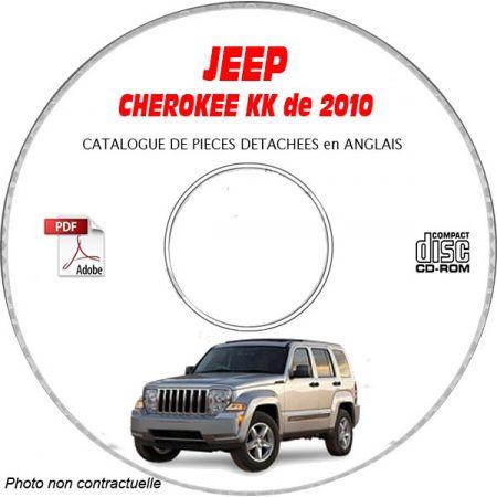 JEEP CHEROKEE - LIBERTY KK de 2010 Type : RENEGADE + SPORT + LIMITED Catalogue des Pièces Détachées sur CD-ROM Anglais