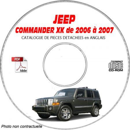 JEEP COMMANDER XK de 2006 à 2007 Type : XK LIMITED Catalogue des Pièces Détachées sur CD-ROM anglais