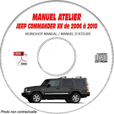 JEEP COMMANDER XK de 2006 à 2010 Type : LIMITED Manuel d'Atelier sur CD-ROM Anglais