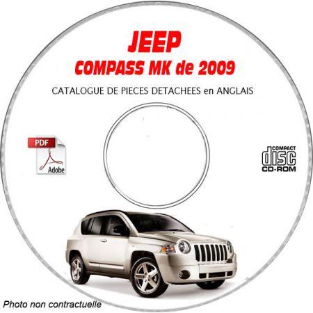 JEEP COMPASS MK de 2009 Type : MK49 LIMITED Catalogue des Pièces Détachées sur CD-ROM Anglais
