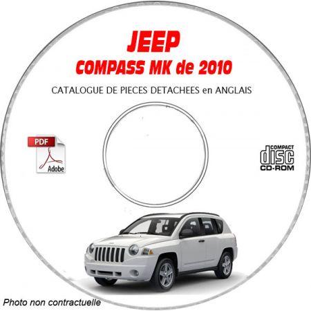 JEEP COMPASS MK de 2010 Type : MK49 LIMITED Catalogue des Pièces Détachées sur CD-ROM Anglais