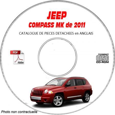 JEEP COMPASS MK de 2011 Type : MK49 LIMITED Catalogue des Pièces Détachées sur CD-ROM Anglais