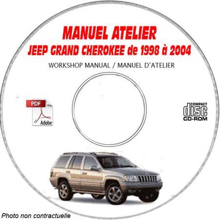 JEEP GRAND CHEROKEE de 1998 à 2004 TYPE WG LAREDO LIMITED Manuel d'Atelier sur CD-ROM anglais