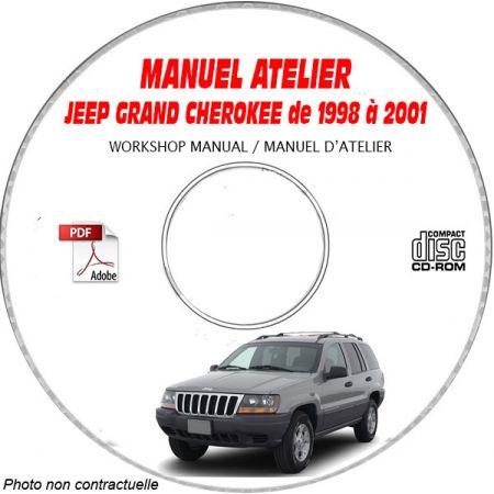 JEEP GRAND CHEROKEE WJ de 1998 à 2001 TYPE LAREDO + LIMITED Manuel d'Atelier sur CD-ROM anglais