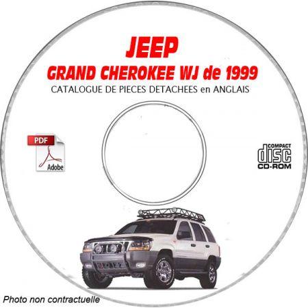 JEEP GRAND CHEROKEE WJ de 1999 TYPE : LAREDO+ LIMITED Catalogue des Pièces Détachées sur CD-ROM anglais