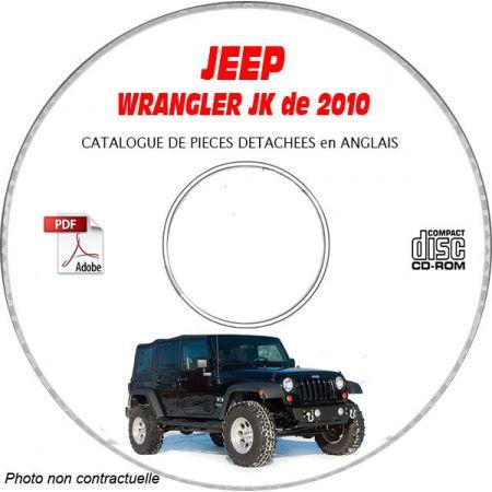 JEEP WRANGLER JK de 2010 Type : JK72 JK74 X + SAHARA + RUBICON Catalogue des Pièces Détachées sur CD-ROM Anglais