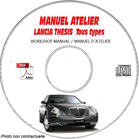 LANCIA THESIS Tous Types  Type : 841AX........  Manuel d'Atelier sur CD-ROM anglais