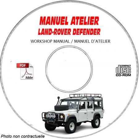LAND-ROVER DEFENDER 90, 110 Manuel d'Atelier sur CD-ROM Anglais