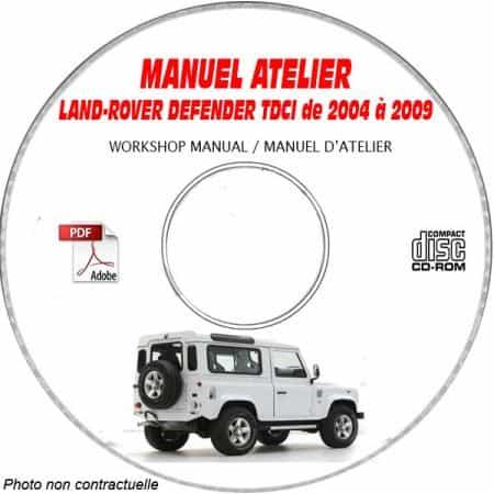 LAND-ROVER DEFENDER 2.4 TDCI de 2007 à 2009 Manuel d'Atelier sur CD-ROM anglais