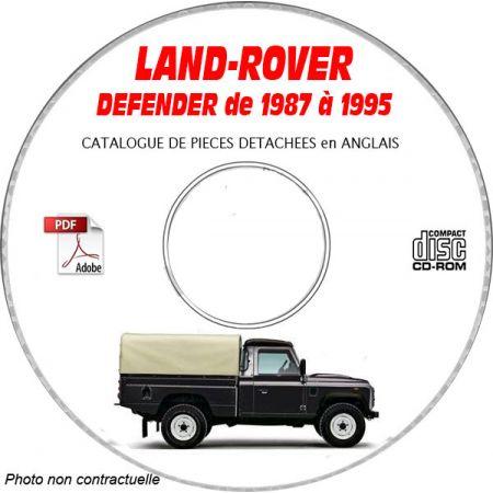 LAND-ROVER DEFENDER 110 de 1987 à 1995 Catalogue des Pièces Détachées sur CD-ROM
