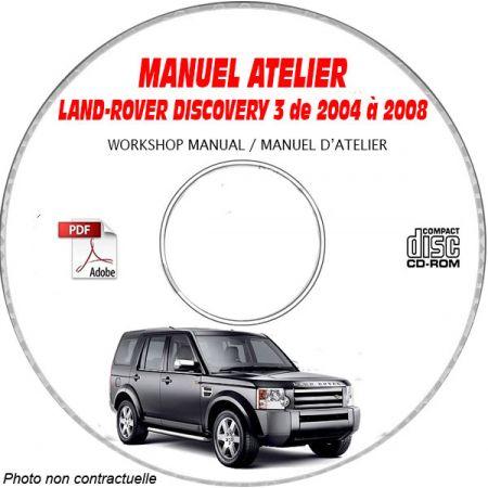 LAND-ROVER DISCOVERY 3 de 2004 à 2008 Manuel d'Atelier sur CD-ROM Anglais