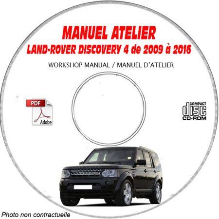 LAND-ROVER DISCOVERY IV de 2009 à 2016 type L139 Manuel Atelier sur CD-ROM Anglais