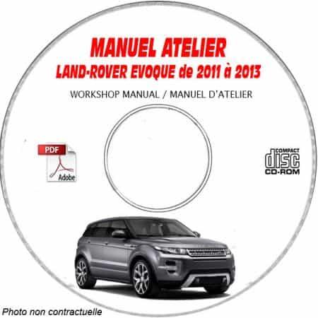 LAND-ROVER EVOQUE de 2011 à 2013 Type : L462 Manuel Atelier sur CD-ROM anglais
