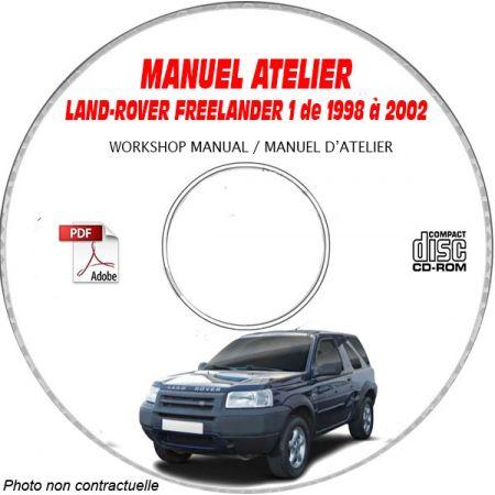 LAND-ROVER FREELANDER Phase 1 de 1998 à 2002 Manuel d'Atelier sur CD-ROM anglais