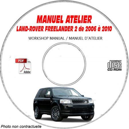 LAND-ROVER FREELANDER Phase 2 de 2006 à 2010 Manuel d'Atelier sur CD-ROM anglais