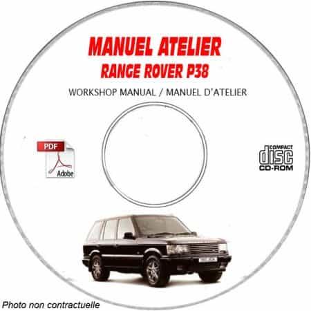 RANGE ROVER P38 Manuel d'Atelier sur CD-ROM Anglais