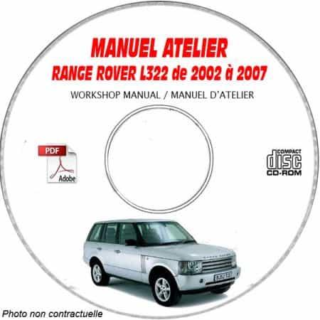 RANGE-ROVER L322 de 2002 a 2007 Manuel d'Atelier sur CD-ROM Anglais