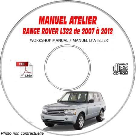 RANGE-ROVER L322 de 2007 à 2012 Phase 2 Manuel d'Atelier sur CD-ROM anglais