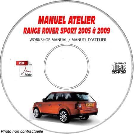 RANGE ROVER SPORT de 2005 à 2009 type L320 Manuel Atelier sur CD-ROM Anglais