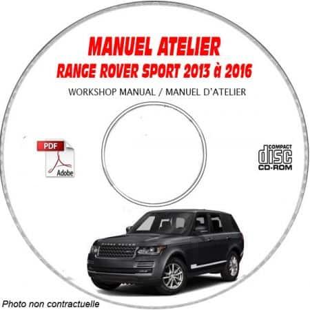 RANGE ROVER SPORT de 2013 à 2016 type L494 Manuel Atelier sur CD-ROM anglais
