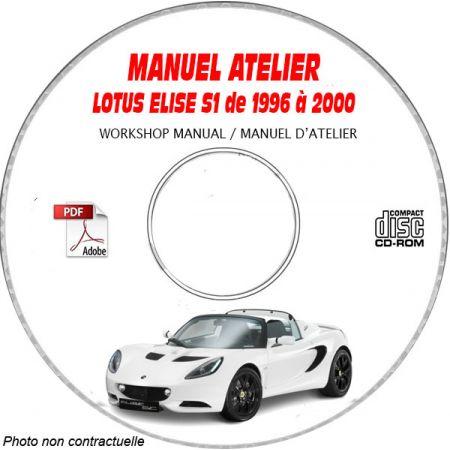 LOTUS ELISE S1 De 1996 a 2000 Type : 111 + 111S Manuel d'Atelier sur CD-ROM anglais
