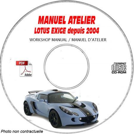 LOTUS EXIGE S R Depuis 2004    Types : 111 + 111R   Manuel d'Atelier sur CD-ROM anglais