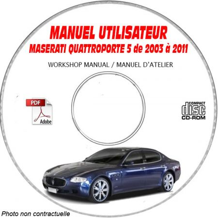 QUATTROPORTE 03-11 - Manuel Utilisateur CDROM MASERATI FR