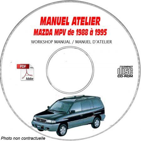 MAZDA MPV de 1988 à 1995 Type : LV522 + LV523 Manuel d'Atelier sur CD-ROM Anglais