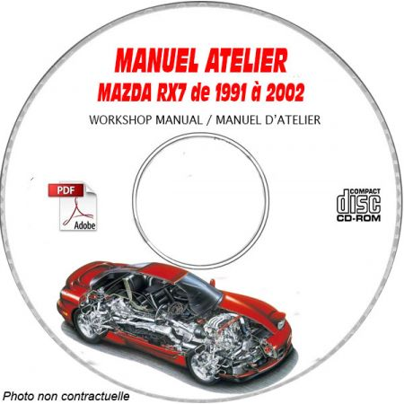 MAZDA RX7 de 1991 à 2002 Tyoe : FD3S Manuel d'Atelier sur CD-ROM anglais