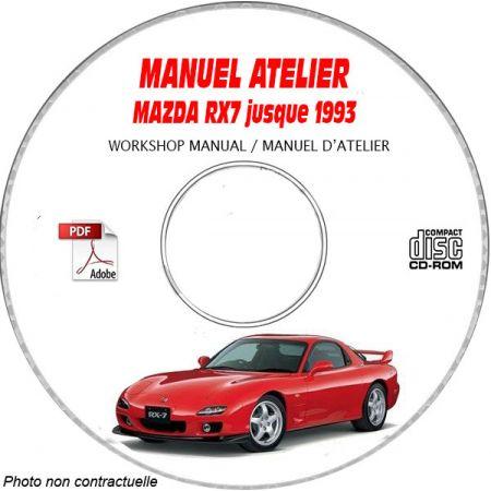 MAZDA RX7 jusqu'en 1993 Tyoe JM1FD 331 PO + 322 PO Manuel d'Atelier sur CD-ROM anglais
