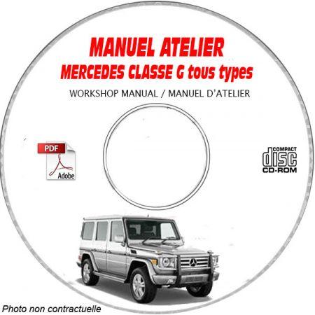 MERCEDES-BENZ CLASSE G Type W460 Manuel d'Atelier sur CD-ROM FR