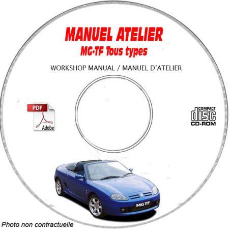 MG MG-TF Tous types Manuel d'Atelier sur CD-ROM FR