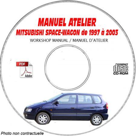 MITSUBISHI SPACE WAGON de 1997 à 2003 Types : N84W + N94W Manuel d'Atelier sur CD-ROM Anglais