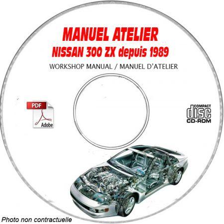 NISSAN 350ZX depuis 1989 TYPE: Z32 KRG + KRLG Manuel d'Atelier sur CD-ROM Anglais