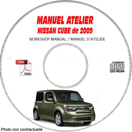 NISSAN CUBE de 2009 TYPE: Z12 Manuel d'Atelier sur CD-ROM anglais