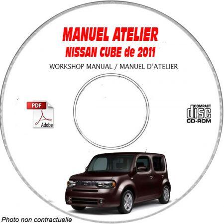 NISSAN CUBE de 2011 TYPE: Z12 Manuel d'Atelier sur CD-ROM anglais