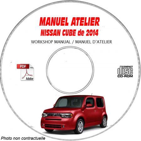 NISSAN CUBE de 2014 TYPE: Z12 Manuel d'Atelier sur CD-ROM anglais