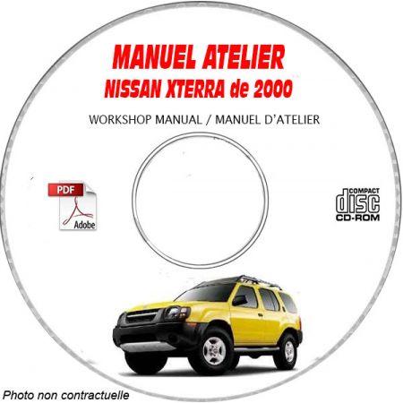 NISSAN XTERRA de 2000 TYPE: WD22 Manuel d'Atelier sur CD-ROM anglais