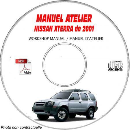 NISSAN XTERRA de 2001 TYPE: WD22 Manuel d'Atelier sur CD-ROM Anglais