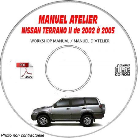 NISSAN TERRANO II E, SE, SR TYPE R20 de 2002 a 2005