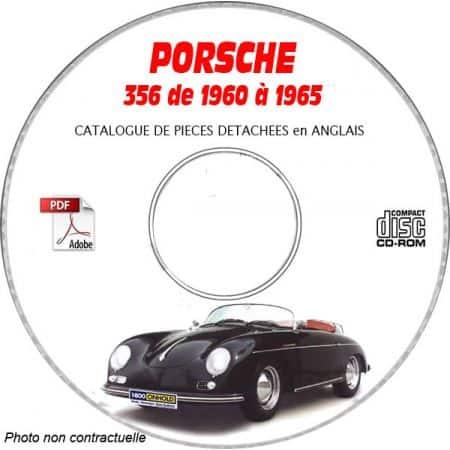 PORSCHE 356 de 1960 à 1965 B + C + GS + GT + CARRERA + KARMANN Catalogue des Pièces Détachées sur CD-ROM anglais