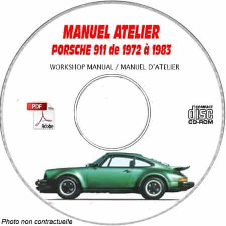 PORSCHE 911 S SC de 1972 à 1983 Manuel d'Atelier sur CD-ROM anglais