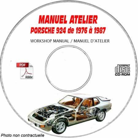PORSCHE 924 et 924 Turbo de 1976 à 1987 Manuel d'Atelier sur CD-ROM anglais