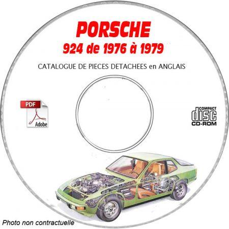 PORSCHE 924 et Turbo de 1976 à 1979 Type 931 Catalogue des Pièces Détachées sur CD-ROM anglais