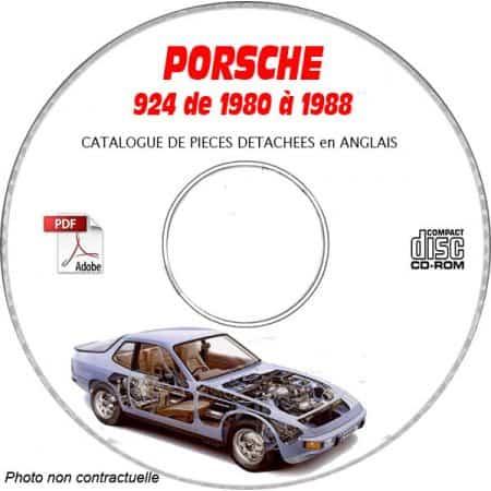 PORSCHE 924 de 1980 à 1985 Type : 931 Type : 937 Catalogue des Pièces Détachées sur CD-ROM Anglais