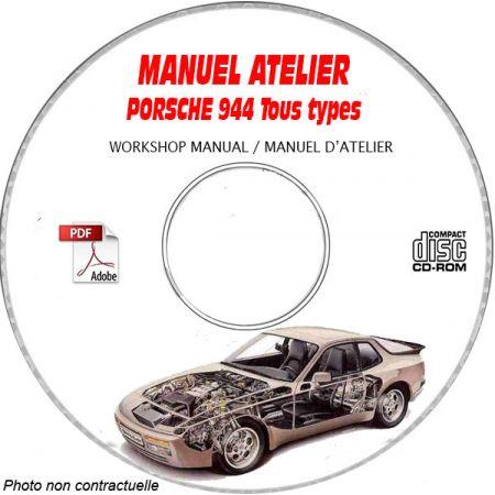 PORSCHE 944 Tous types 944 S2 Turbo Manuel d'Atelier sur CD-ROM anglais