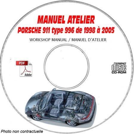 PORSCHE 911 type 996 de 1998 a 2005Catalogue des Pièces Détachées sur CD-ROM Anglais