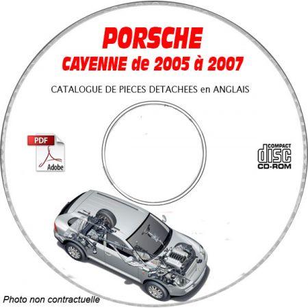 PORSCHE CAYENNE de 2005 à 2007 Type : 9PA (955) Catalogue des Pièces Détachées sur CD-ROM Anglais
