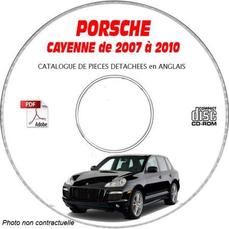 PORSCHE CAYENNE de 2007 à 2010 Type : 9PA1 (957) Catalogue des Pièces Détachées sur CD-ROM anglais